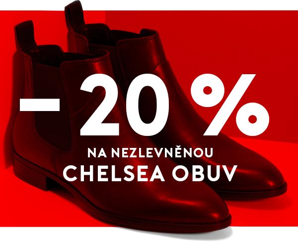 - 20 % na nezlevněnou chelsea obuv