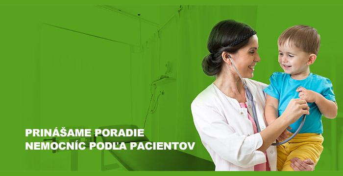 Prinášame poradie nemocníc podľa pacientov