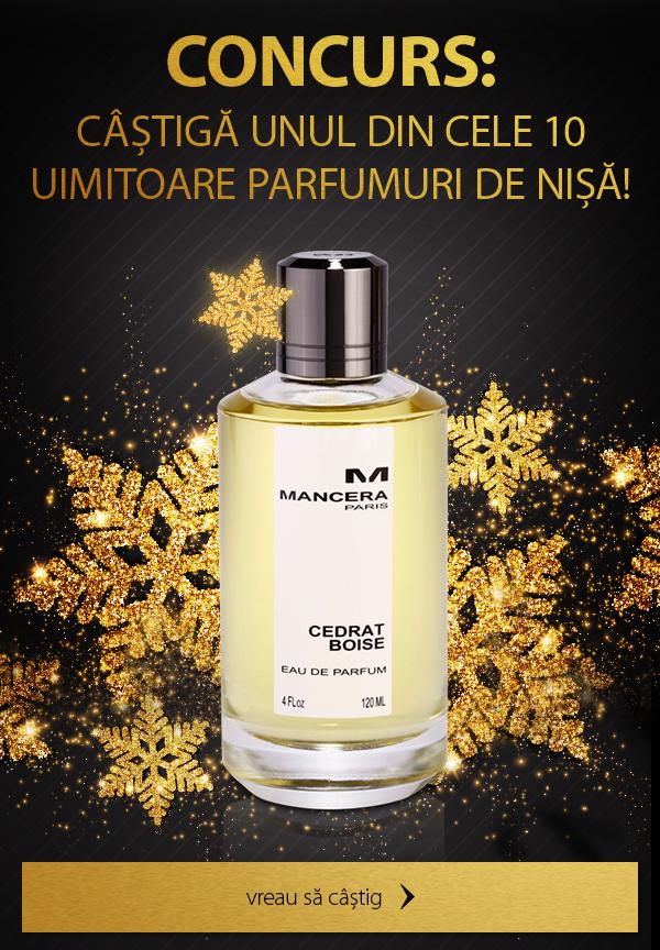 CONCURS: Câștigă unul din cele 10 uimitoare parfumuri de nișă!