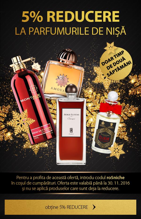 5% reducere la toate parfumurile de nișă